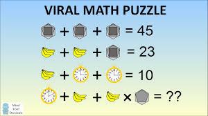 emoji maths problem stumping the internet bananas clock  emoji maths problem stumping the internet bananas clock hexagon algebra problem solved