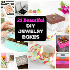 21 beautiful functional diy jewelry boxes coolcrafts com