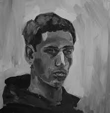this is also from painting class it should have been posted before the colour one but it got forgotten besides my riveting stare i think this came out