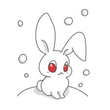 雪とうさぎのイラスト 無料イラストのimt 商用ok加工ok