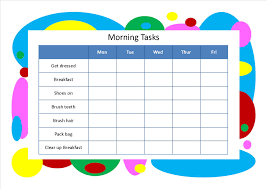 Morning Routine Printable Chart Free Morning Routine Pictures Download Free Clip Art Free