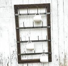 mug rack wall magnolia market expanding beechwood coffee hanger