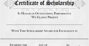 Scholarship Certificate Template Printable Scholarship Certificates Andone Brianstern Co