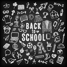free chalkboard background blackboard background of back to school with sketches vector