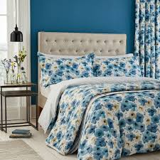 sanderson bedding inari in indigo at bedeck 1951
