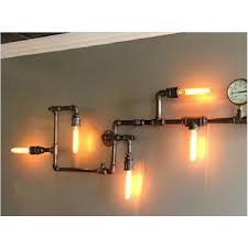 industrial pipe lighting. NEW Industrial Steampunk Wall Lamp Pipe Lighting F