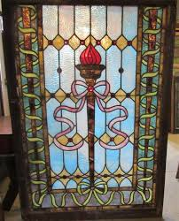 4495 vintage stained glass window