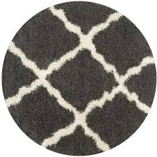 safavieh dallas dark gray area rug 6 x 6 round