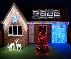 Outside Christmas Lights Blue Christmas Lights With White Wire Facbooikcom