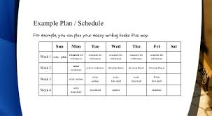 how to write essays part the planning stage 8 example plan