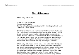gilbert grape essay gcse english marked by teachers com document image preview
