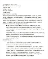 Senior Graphic Designer Resume in Word