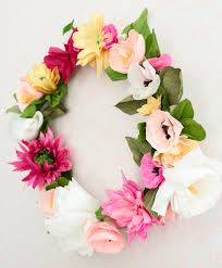 How To Make A Beautiful Flower With Paper How To Make A Paper Flower Wreath A Beautiful Mess