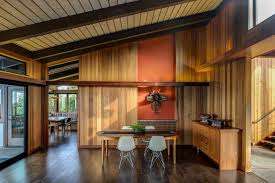 berkeley interior design. The Dining Room Of Renovated Midcentury Home In Berkeley Hills Displays A Tlingit Sculpture Interior Design J