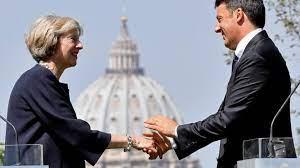Theresa May and Matteo Renzi on UK-EU trade relations - BBC News