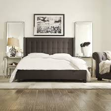 grey upholstered sleigh bed. Bedding White Linen Upholstered Bed Grey Platform King Frame With Cushioned Headboard Bedroom Sleigh