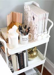 Home office desk organization Simple Use Cart To Organize Your Workspace Essentials Office Workspaces Bedroom Room Dorm Room Pinterest Use Cart To Organize Your Workspace Essentials Office