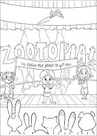 Cartoon characters coloring book page 9: Zootopia Coloring Pages Books 100 Free And Printable
