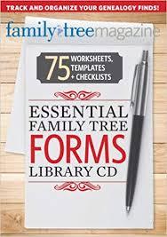 Genealogy Family Tree Forms Essential Family Tree Forms Library Volume 1 Allison Dolan Diane