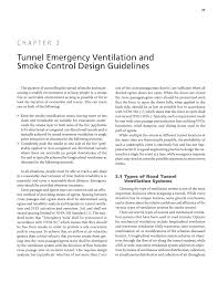 Method Statement For Duct Light Test Pdf Chapter 3 Tunnel Emergency Ventilation And Smoke Control