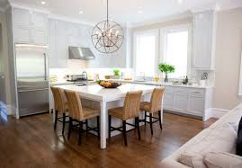 Kitchen island dining table Counter View In Gallery Very Simple Kitchen Island Homedit 30 Kitchen Islands With Tables Simple But Very Clever Combo