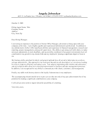 Cover Letter For Administrative Jobs Examples Adriangatton Com