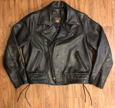 vanson leathers motorcycle jacket bandit chp black size 44 made in usa