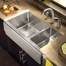 a front stainless steel sink a front