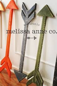 wooden arrow painted and distressed in the by melissaannecompany on diy wall art flip flop the