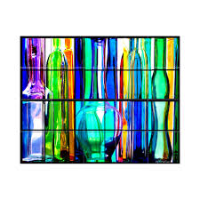 Kitchen Mural Lmt Tile Murals Glass Bottles Kitchen Tile Mural In Multi Colored