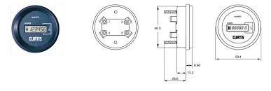 curtis instruments 701 hour meter hexagonal 36 80v bylong curtis hour meter wiring diagram curtis instruments 700 series q Curtis Hour Meter Wiring Diagram