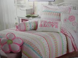 com girls pink and pastels cotton quilt set twin home kitchen