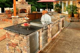 image of outdoor kitchen cabinets stainless steel