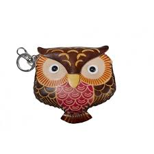 zlp ow leather purse owl