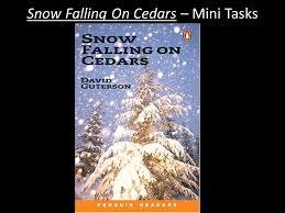 snow falling on cedars mini tasks snow falling on cedars mini 1 snow falling on cedars mini tasks