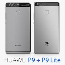 huawei p9 grey. huawei p9 gray lite 3d c4d grey