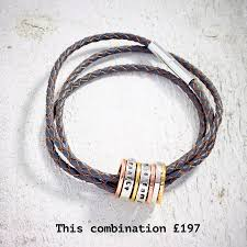 all about you build your leather bracelet two beads