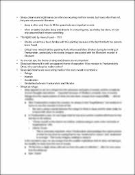 the nightmare essay outline bull sleep dreams and nightmares can this preview has intentionally blurred sections sign up to view the full version