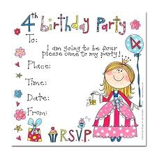 Invitation Words For Birthday Party 4th Birthday Invitations Awesome Party Invitation Wording