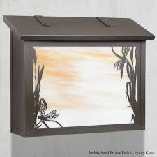 dragonfly large wall mount mailbox