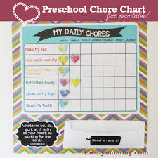 Make A Preschool Chore Chart Free Printable The Diy Mommy
