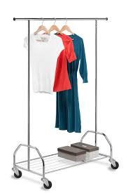Heavy Duty Coat Rack With Shelf Clothing Storage Racks and Wardrobes OrganizeIt 100