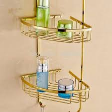 luxury bathroom shelves 3 tier metal