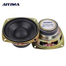 AIYIMA 2Pcs 4 Inch Woofer Speaker Bass 4 Ohm 15W HIFI Altavoz Satellite  Loudspeaker Amplifier Home Theater For Subwoofer Speaker|Bookshelf  Speakers