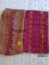 Sindhi Kadhai Design The Traditional Embroidery Dresses Of Sindh Available For