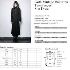 Punk Rave Size Chart Long Black Dress With Cross Flared Sleeves And Collar Gothic Punk Rave Sku Punkr0318