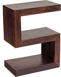 dakota mango s shape display unit rustic hardwood