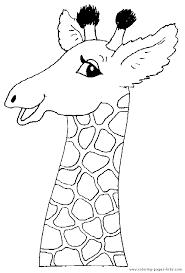 Head Of A Giraffe Color Page