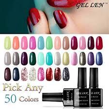Gellen Pick Any 50 Colors Uv Gel Nail Polish Nail Art Home Salon Set