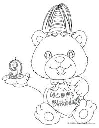 Birthday Coloring Page Birthday Candles Coloring Page Happy Birthday